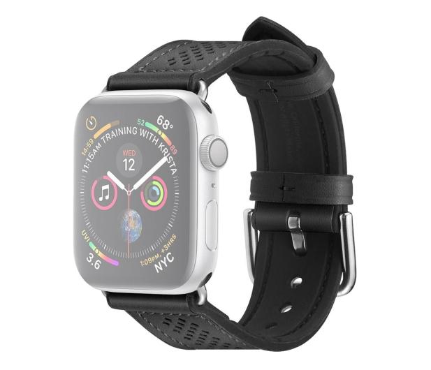 Spigen Pasek Skórzany Retro Fit do Apple Watch czarny - 527314 - zdjęcie