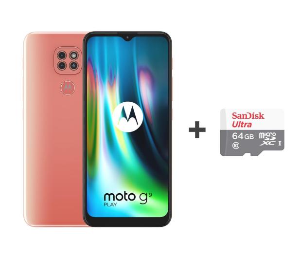 Motorola Moto G9 Play 4/64GB Purple Rose + 64GB - 588685 - zdjęcie