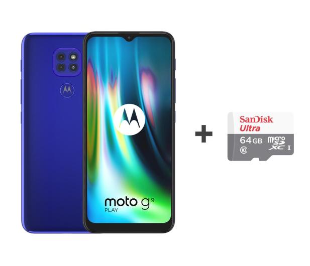 Motorola Moto G9 Play 4/64GB Sapphire Blue + 64GB - 586279 - zdjęcie
