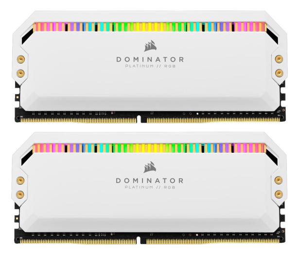 Corsair 16GB (2x8GB) 3200MHz CL16 Dominator White RGB - 588275 - zdjęcie
