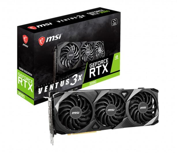 MSI GeForce RTX 3080 VENTUS 3X OC 10GB GDDR6X - 589742 - zdjęcie