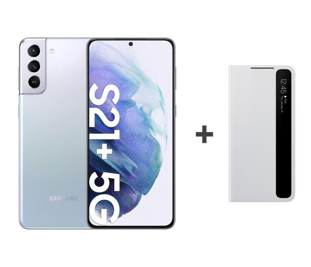 Samsung Galaxy S21+ 8/256 Dual SIM Silver+Clear View Cover - 619096 - zdjęcie