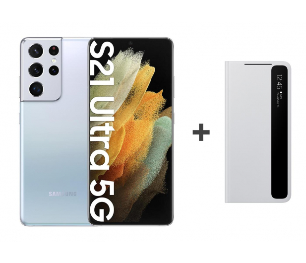 Samsung Galaxy S21 Ultra 12/128 Silver + Clear View Cover - 619129 - zdjęcie