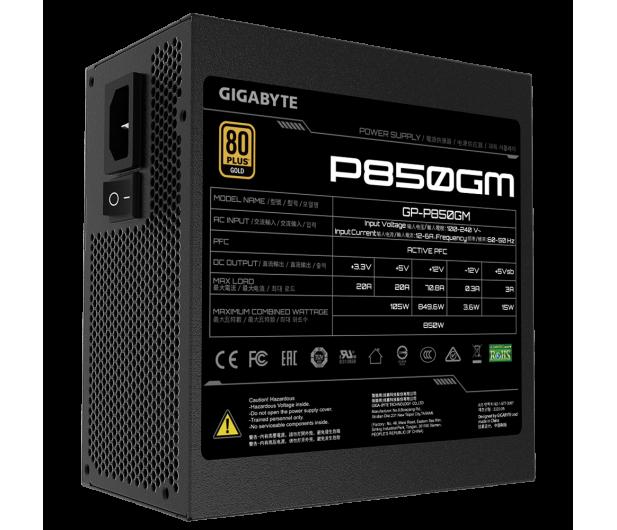 Gigabyte P850GM 850W 80 Plus Gold - 601551 - zdjęcie 5