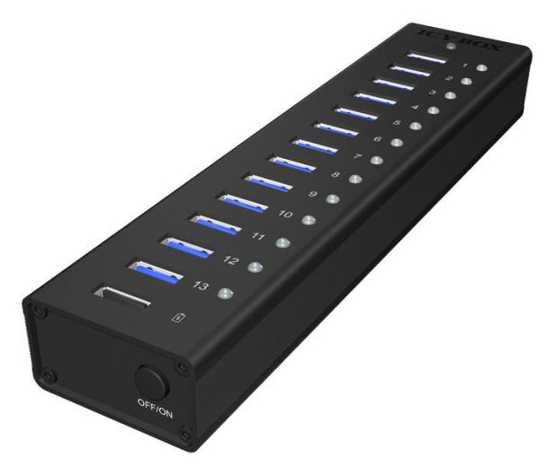 ICY BOX HUB USB 3.0 - 13x USB 3.0 - 622621 - zdjęcie 3