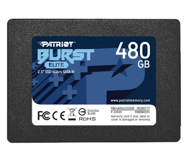 "Patriot 480GB 2,5"" SATA SSD BURST ELITE - 622637 - zdjęcie"