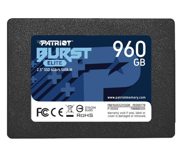 "Patriot 960GB 2,5"" SATA SSD BURST ELITE - 622639 - zdjęcie"