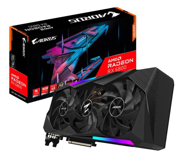 Gigabyte Radeon RX 6800 AORUS MASTER 16GB GDDR6 - 618682 - zdjęcie