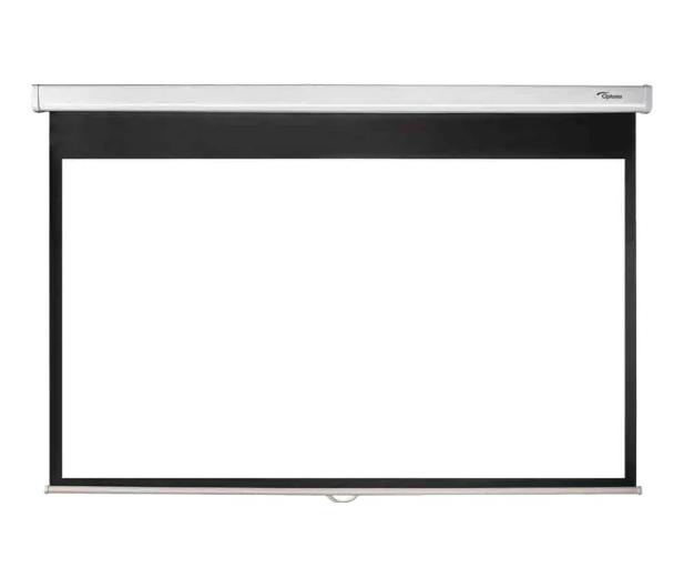 Optoma HD146X+Ekran ręczny 92' 203x114 16:9 Biały Matowy - 629882 - zdjęcie 5
