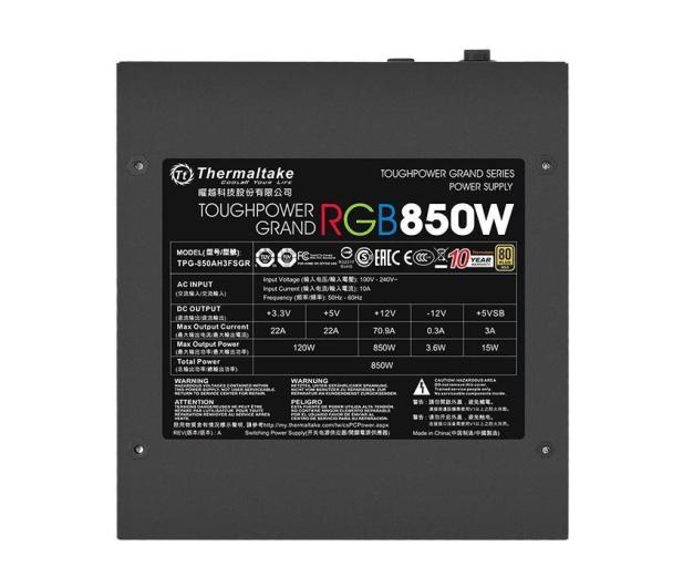 Thermaltake Toughpower Grand RGB 850W 80 Plus Gold - 627434 - zdjęcie 4