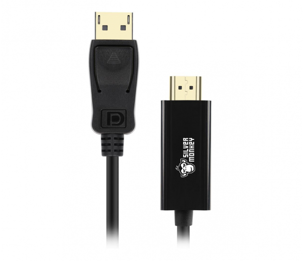 Silver Monkey Kabel DisplayPort 1.4 - HDMI 1.8m - 567557 - zdjęcie