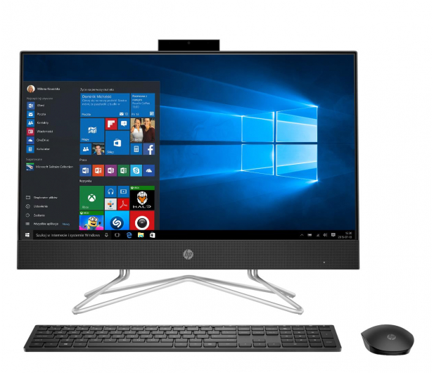 HP 24 AiO Athlon 3150U/16GB/256/Win10 IPS Black - 632880 - zdjęcie