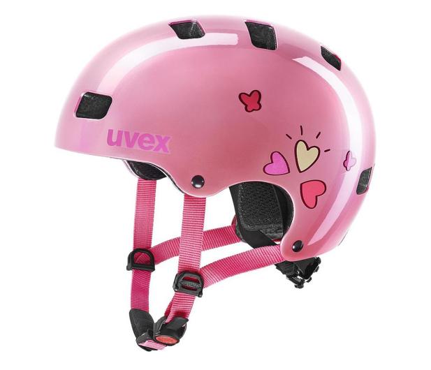 UVEX Kask Kid 3 różowy serca 55-58 cm - 628411 - zdjęcie