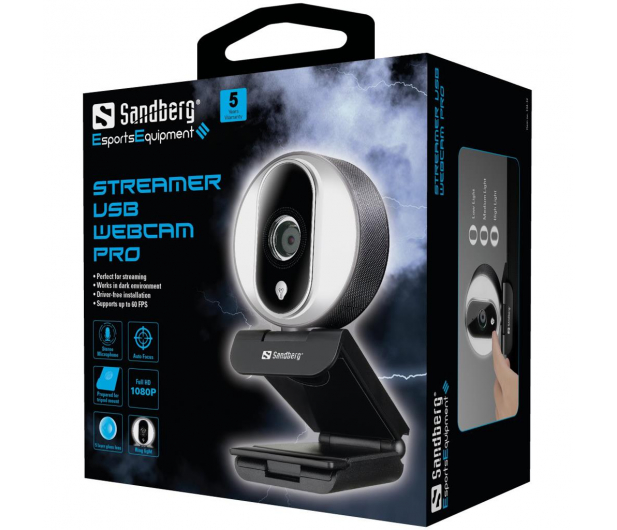 Sandberg Streamer USB Webcam Pro - 629838 - zdjęcie 4