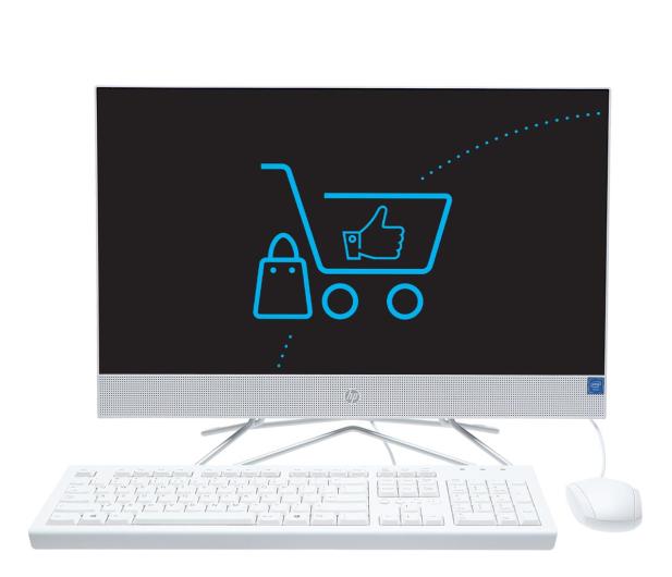 HP 24 AiO J4025/4GB/256 IPS White  - 607626 - zdjęcie