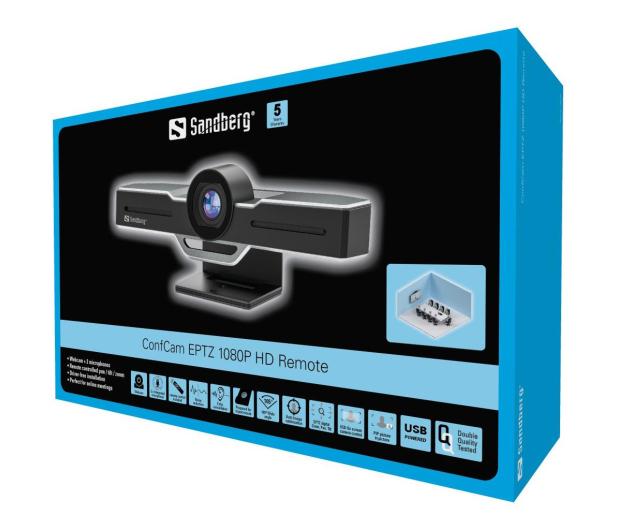 Sandberg ConfCam EPTZ 1080P HD Remote - 629843 - zdjęcie 4