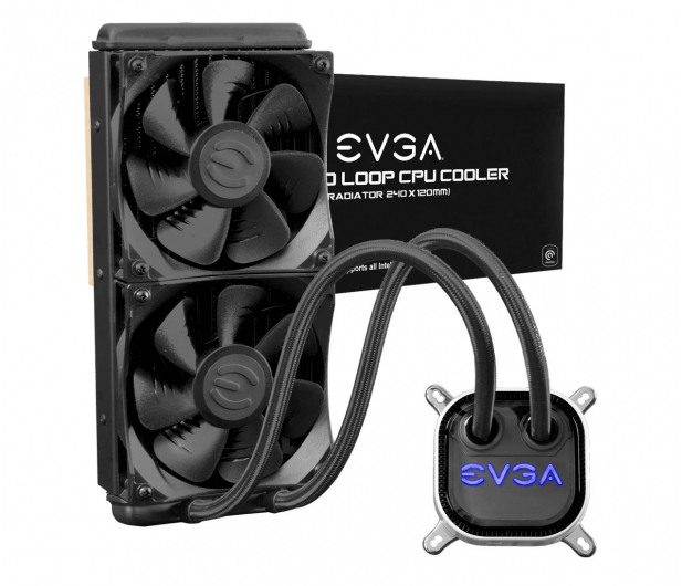 EVGA CLC 240mm 2x120mm - 624388 - zdjęcie