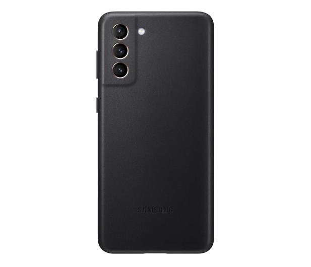Samsung Leather Cover do Galaxy S21+ Black - 617445 - zdjęcie