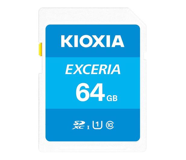KIOXIA 64GB SDXC Exceria 100MB/s C10 UHS-I U1 - 636691 - zdjęcie