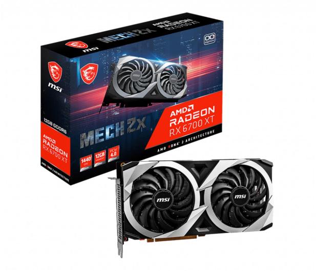 MSI Radeon RX 6700 XT MECH 2X OC 12GB GDDR6 - 638550 - zdjęcie