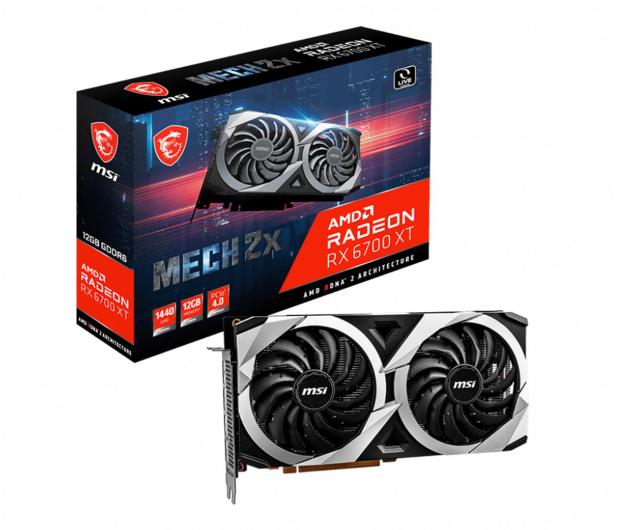 MSI Radeon RX 6700 XT MECH 2X 12GB GDDR6 - 638549 - zdjęcie