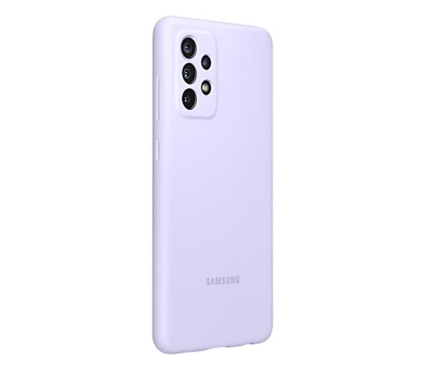 Samsung Silicone Cover do Galaxy A72 Violet - 637677 - zdjęcie 2