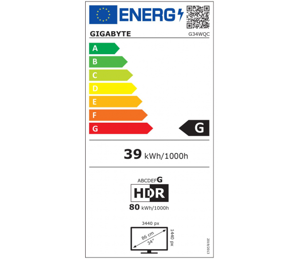 Gigabyte G34WQC czarny Curved HDR - 593252 - zdjęcie 2