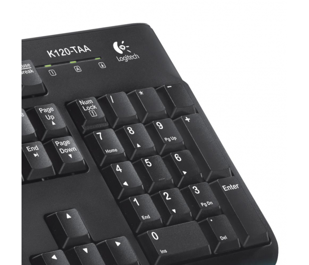 Logitech K120 Keyboard czarna USB - 57307 - zdjęcie 6