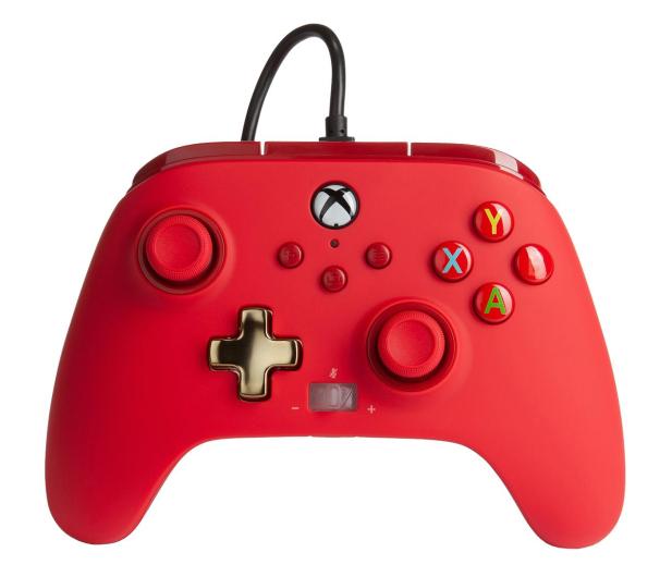 PowerA XS Pad przewodowy Enhanced Czerwony - 635891 - zdjęcie