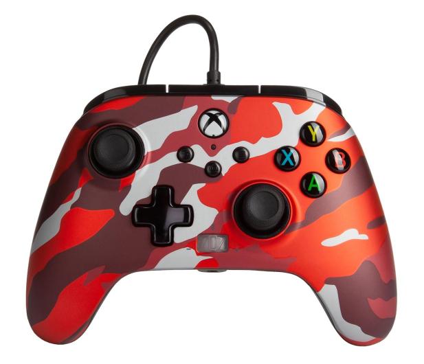 PowerA XS Pad przewodowy Enhanced Metallic Red Camo - 635896 - zdjęcie