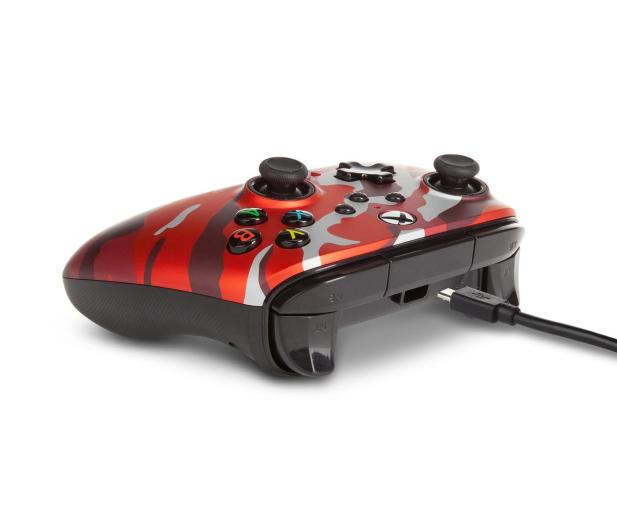 PowerA XS Pad przewodowy Enhanced Metallic Red Camo - 635896 - zdjęcie 5