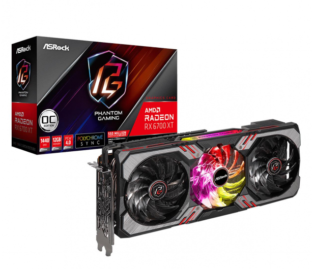 ASRock Radeon RX 6700 XT Phantom Gaming D OC 12GB GDDR6 - 644895 - zdjęcie