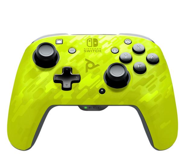 PDP SWITCH Pad bezprzew. Faceoff - Camo Żółty - 642496 - zdjęcie