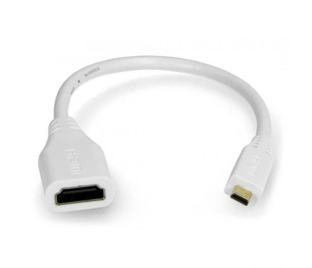 Raspberry Pi Adapter microHDMI - HDMI oryginalny do RPi 4B  - 635257 - zdjęcie 2