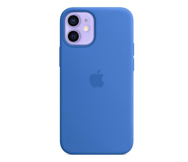 Apple Silikonowe etui iPhone 12 mini adriatycki błękit - 648985 - zdjęcie