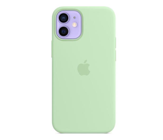 Apple Silikonowe etui iPhone 12 mini pistacjowe - 648986 - zdjęcie