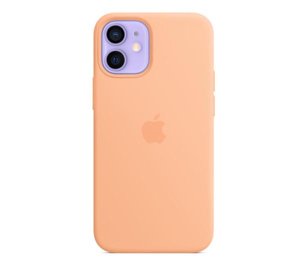 Apple Silikonowe etui iPhone 12 mini melonowe - 648987 - zdjęcie