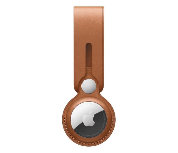 Apple Pasek skórzany do AirTag naturalny brąz - 648801 - zdjęcie