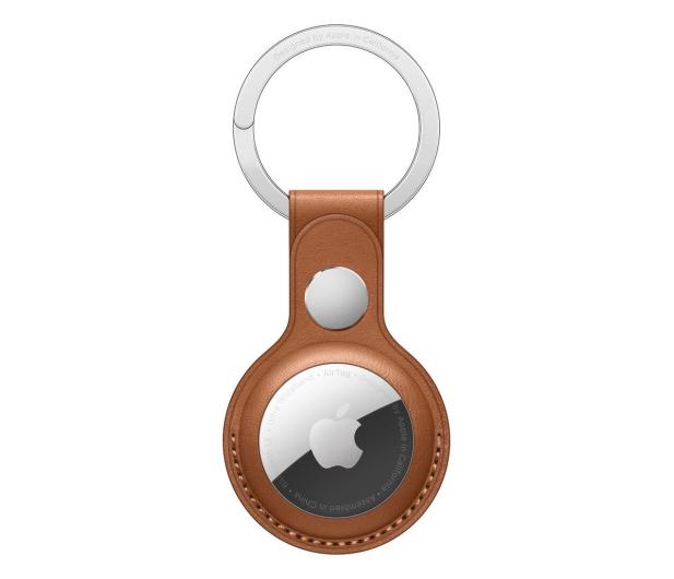 Apple Skórzany brelok do AirTag naturalny brąz - 648804 - zdjęcie