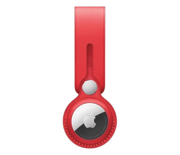 Apple Pasek skórzany do AirTag czerwony - 648802 - zdjęcie