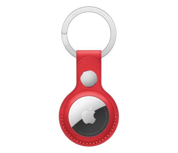 Apple Skórzany brelok do AirTag czerwony - 648805 - zdjęcie
