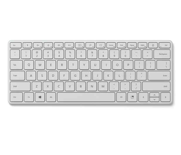 Microsoft Bluetooth Compact Keyboard Glacier - 647758 - zdjęcie