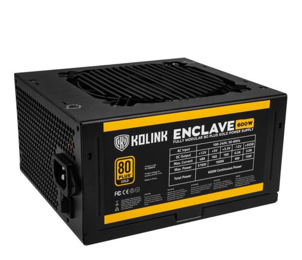 Kolink Enclave 600W 80 Plus Gold - 648188 - zdjęcie