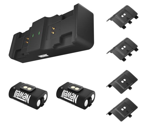 Newell XBO Gaming Set ładowarka + 2 akumulatory - Czarny - 653847 - zdjęcie