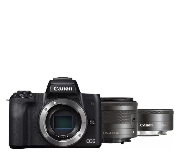 Canon EOS M50 czarny+ M15-45mm F3.5-6.3 IS STM+ M22mm - 646537 - zdjęcie