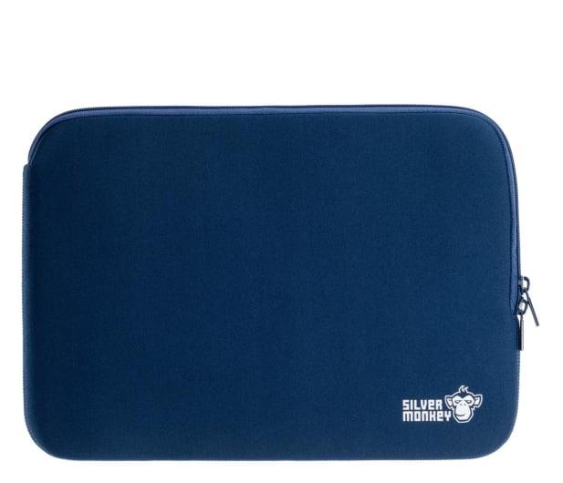 """Silver Monkey EasySleeve etui na laptopa 14,1"""" granatowe - 608406 - zdjęcie"""