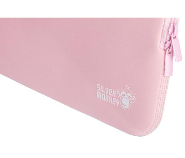"""Silver Monkey EasySleeve etui na laptopa 14,1"""" różowe - 608404 - zdjęcie 5"""