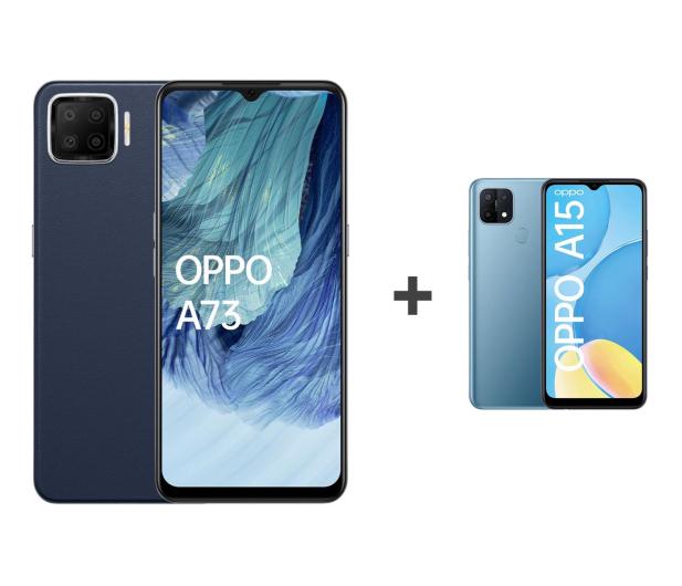 OPPO A73 4/128 AMOLED NFC Granatowy+A15 2/32 Niebieski - 652146 - zdjęcie