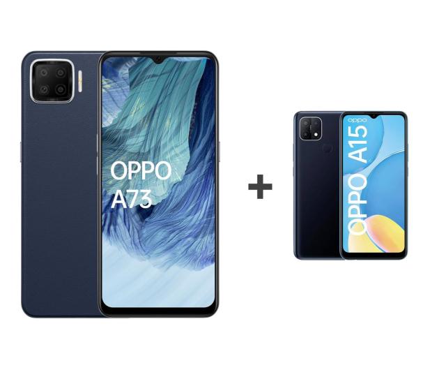 OPPO A73 4/128GB AMOLED NFC Granatowy+A15 2/32GB Czarny - 652145 - zdjęcie