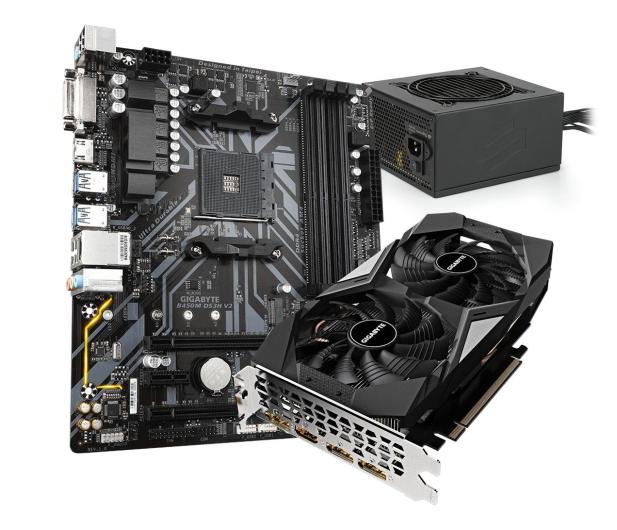 Gigabyte Pakiet: GTX 1660 OC + B450M DS3H V2 + 550W 80+Gold - 660238 - zdjęcie